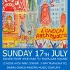 London Rathayatra Parade on Sunday 17th July 2016 from Hyde Park to Trafalgar Square