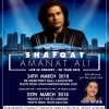 Shafqat Amanat Ali Live in Concert on Saturday 24th March 2018 at De Montfort Hall, Leicester & on Sunday 25th March 2018 at Indigo, The O2 London