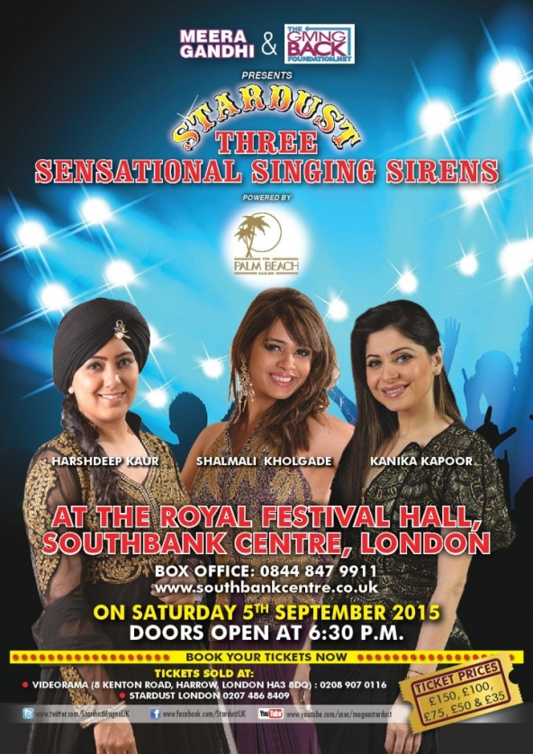 Three Sensational Singing Sirens on Saturday 5th September 2015 at The Royal Festival Hall, Southbank Centre, London SE1 8XX