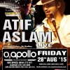 Atif Aslam Live in Concert on Friday 28th August 2015 at O2 Apollo, Manchester M12 6AP