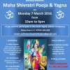 Maha Shivratri Pooja & Yagna on Monday 7th March 2016 Sattavis Patidar Centre, Wembley. HA9 9PE