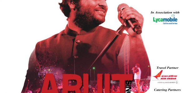 Arijit Singh Live in Concert on Friday 8th at Leicester, Saturday 9th Birmingham, Sunday 10th Manchester, Saturday 16th London & Sunday 17th July 2016 Holland
