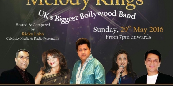 Bollywood Unlimited (Charity Event) by Melody Kings on Sunday 29th May 2016 at The Ashcroft Theatre, Fairfield Halls, Park Lane, Croydon CR9 1DG