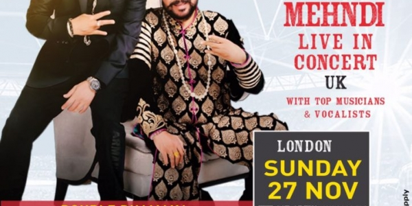 Mika Singh & Daler Mehndi Live in Concert on Sunday 27th November 2016 at The SSE Arena, Arena Square, Engineers Way, Wembley HA9 0AA