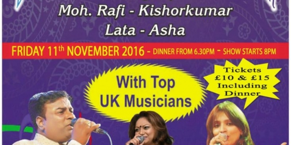 Diwali Ki Ek Rangeen Shaam Aap Ke Naam on Friday 11th November 2016 at Winston Churchill Theatre, Manor Farm, Pinn Way, Ruislip HA4 7QL