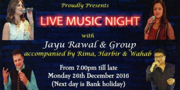 Lions Club of Kingsbury, Kenton, and Belmont & Devon Charitable Trust presents Live Music Night on Monday 26th December 2016 at Premier Banqueting, 1 Canning Road, Harrow HA3 7TS