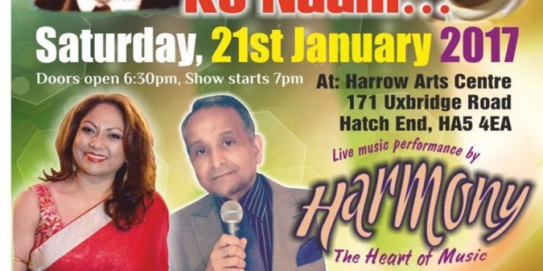 Ek Shaam Mukesh Ke Naam on Saturday 21st January 2017 at Harrow Arts Centre, Hatch End HA5 4EA