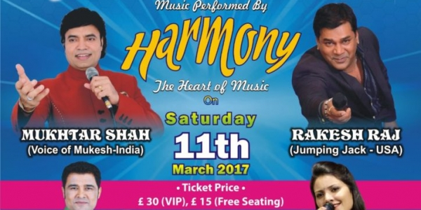 Yadon Ka Safar with Harmony on Saturday 11th March 2017 at Harrow Leisure Centre, Christchurch Avenue, Harrow HA3 5BD