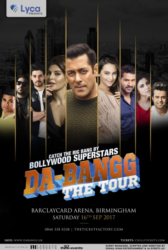 Salman Khan's Da-Bangg The Tour on Saturday 16th September 2017 at Barclaycard Arena, King Edwards Road, Birmingham B1 2AA