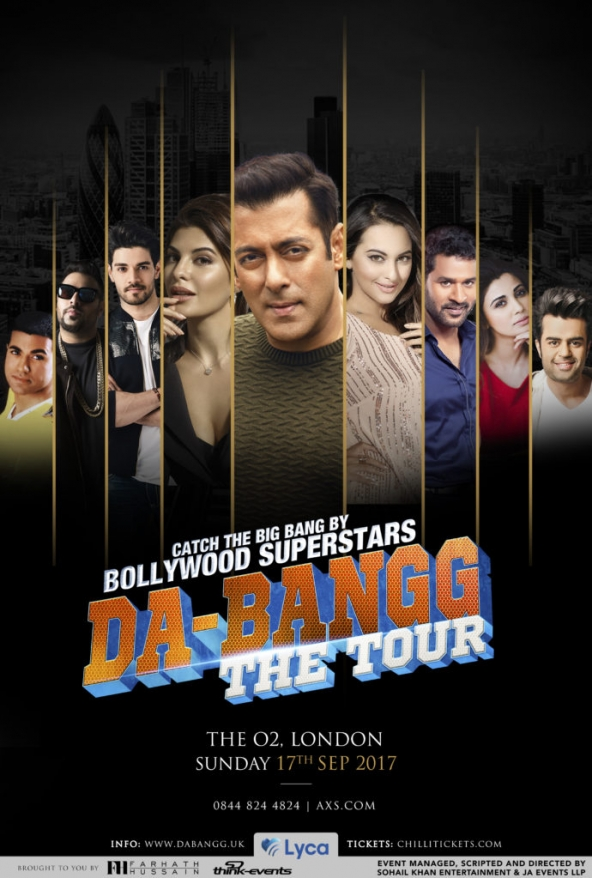 Salman Khan's Da-Bangg The Tour on Sunday17th September 2017 at The O2, London