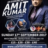 An evening with Amit Kumar on Sunday 17th September 2017 at The Beck Theatre, Grange Road, Hayes, Middlesex UB3 2UE