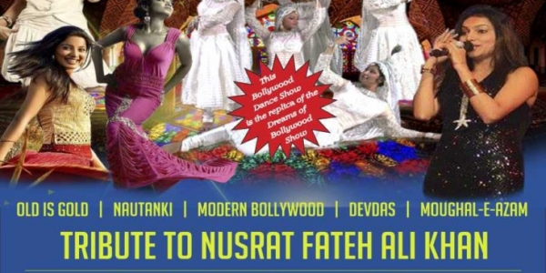 Bollywood's Mughal-E-Azam Tribute to Nusrat Fateh Ali Khan on Easter Monday 2nd April 2018 at Winston Churchill Theatre, Manor Farm, Pinn Way, Ruislip HA4 7QL